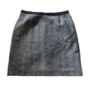 Boden blue and gray British tweed skirt